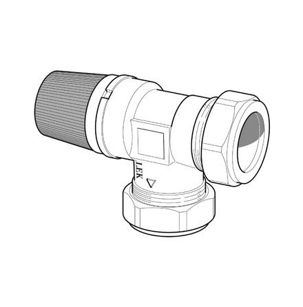 NIBE Säkerhetsventil 22 mm 1,5 Bar