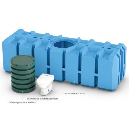 FANN Green Toalettsystem enkel golv wc