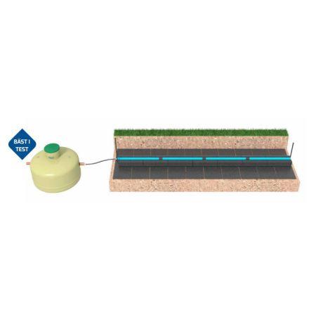 Slamavskiljare 3 m3 ett hushåll infiltrationspaket / Biomoduler BDT+KL
