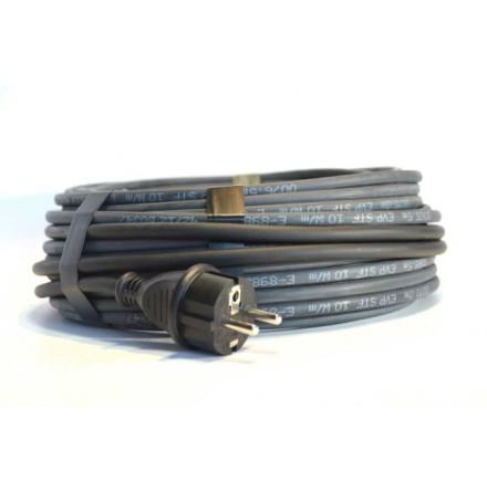 Frostskyddskabel EVP-STF 10 med sladd och stickpropp 10W/m 2-25 M komplett kit