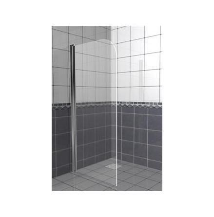 Skärmvägg/badkarsvägg, svängbar modell CW5 klarglas