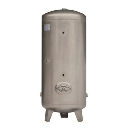 Hydrofor, i syrafast stål, 316Ti